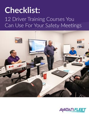 Checklist: 12 Driver Training Courses You Can Use For Your Safety Meetings
