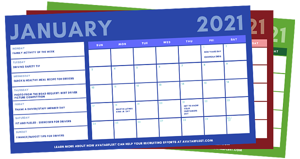 Driver-Recruiters-Social-Media-Calendar