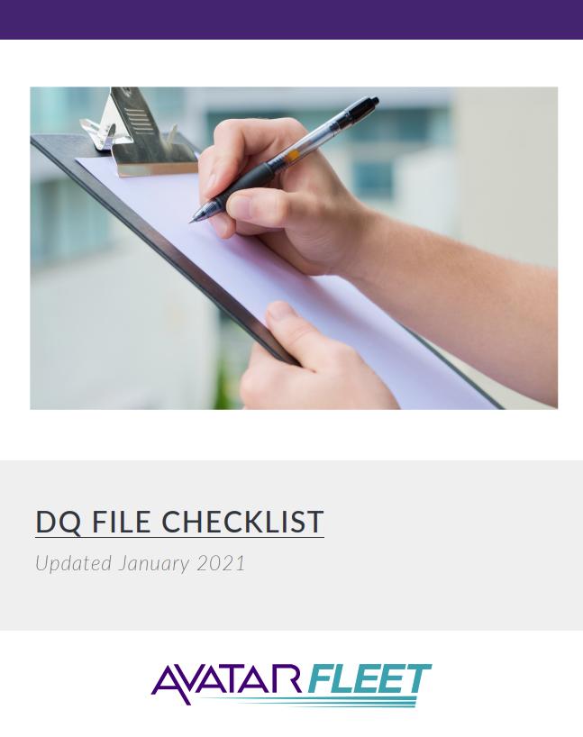 DQ File Checklist Cover